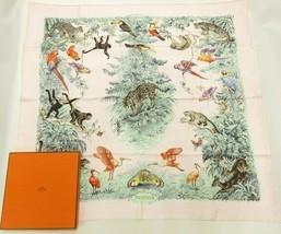 Hermes Scarf Equateur by Robert Dallet 90 cm Silk Light pink Carre wash ... - $474.21