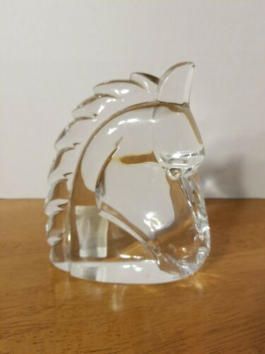 "Primary image for RARE MIKASA KINGS KNIGHT 7"" CRYSTAL HORSE"