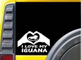 Iguane Mains Cœur Autocollant J997 20.3cm Chaleur Rock Terrarium Décalco... - $4.01
