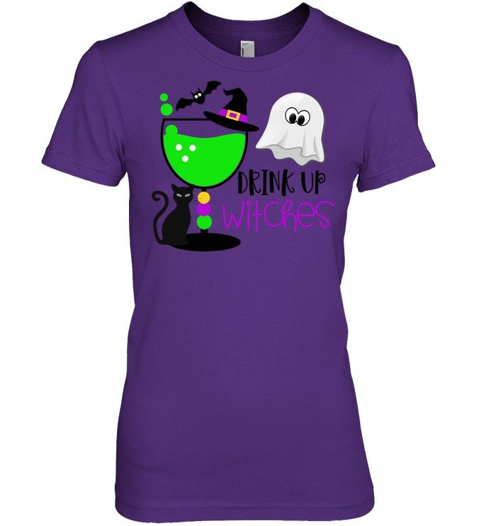 Funny Halloween Witches Tshirt Drink Up Witches Shirt