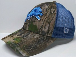 DETROIT LIONS MESHBACK CAMOUFLAGE SNAPBACK HAT MENS ONE-SIZE MADE BY NEW... - $16.82