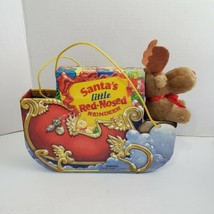 1999 Santa's Little Red-Nosed Reindeer Gift Book Set - Sleigh One Plush ... - $9.89