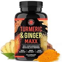 Angry Supplements Turmeric Curcumin & Ginger Maxx, 95% Curcuminoids with... - $16.28