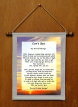 Don't Quit - Personalized Wall Hanging (145-2) - $19.99