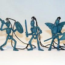 "Skeleton Warrior Ornaments, (6), Altered, 2"" H, String for Hanging, Dyed... - $8.95"