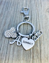 Personalized 2020 Summit Zipper Pull Key chain for Cheerleaders with Ini... - €13,78 EUR