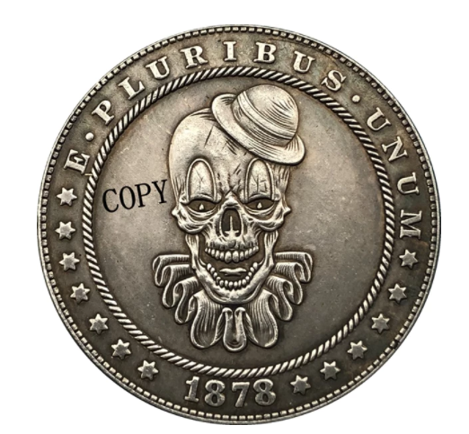 Primary image for Hobo Nickel 1878-CC USA Morgan Dollar Clown COIN For Gift