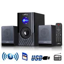 beFree Sound 2.1 Channel Surround Sound Bluetooth Speaker System -Black - $75.94
