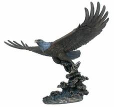 Veronese Hand Polished Statue Soaring eagle - $147.22