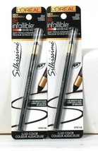 2 Count L'Oreal 0.03 Oz Infallible Silkissime 210 Charcoal Silky Pencil Eyeliner - $21.99