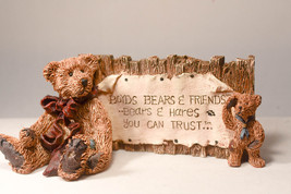 Boyds Bears: Bear Signage with Plaque - Style 2099 - Bears & Hares You Can Trust - $12.02
