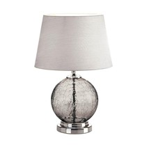 Table Lamps For Living Room, Gray Cracked Glass Bedroom Light Bedside De... - $65.59