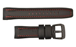 Genuine Luminox Watch band Strap Leather Watch Band Black/Red 24mm 5120 ... - $88.95
