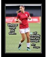 Alex Morgan 'Stronger' Soccer Quote Poster Strength Motivation Wall Art ... - $19.99+
