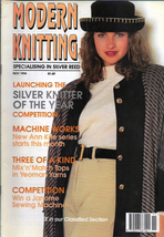 Modern Machine Knitting Nov 1994 Magazine Grapes border, Spangles Stripe... - $5.69