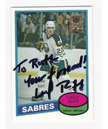 LINDY RUFF AUTOGRAPHED CARD 2002 TOPPS ARCHIVES BUFFALO SABRES INSCRIBED - $3.58