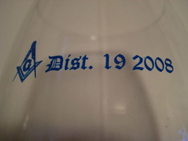 "Vintage 2008 Original MASONIC Dist 19 Brandy Snifter 8.5X2.5"" - $16.37"