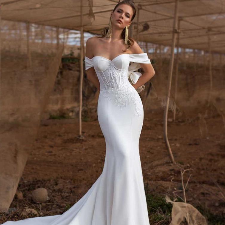 lace mermaid bride wedding dress 2019 new bridal gown with 7750951d 3a7a 4f9c 9412 b92742358ff6