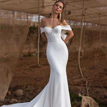 New Soft Style Soft Luxury Satin Mermaid Bridal Gown with Crystal and Pearls image 1
