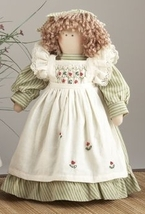 Primitive Doll  41414- Doll Green w/Basket  - €16,35 EUR