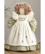 Primitive Doll  41414- Doll Green w/Basket  - $17.95