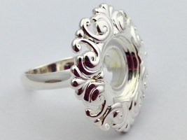 Authentic Kameleon 925 Silver Round Scroll Ring Ring Kr-10 Kr010  Size 7... - $62.69