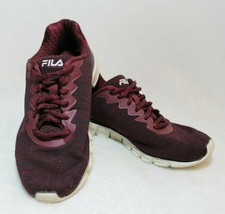 Womens Fila Shoes Size 7 Burgundy Sneakers Tennis Shoes Lace Up Casual R... - $39.59