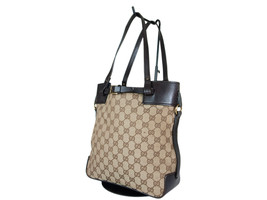 GUCCI GG Web Canvas Leather Browns Shoulder Bag GT2213 - $239.00