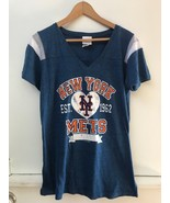 NEW 5TH & OCEAN MLB Women's XL NEW YORK METS Baseball Short Sleeve V-Nec... - $16.95