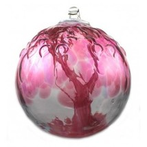 "6"" European Art Glass Spirit Tree Embossed Leaf ""TEA ROSE "" Witch Ball K... - $41.23"