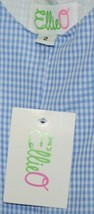 Ellie O Gingham Full Lined Longall Size 2 Color Blue Cotton Polyester Blend image 2