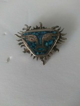 Vintage Mexican Sterling Silver Pin Marked TS 1979 with a Face - $84.14