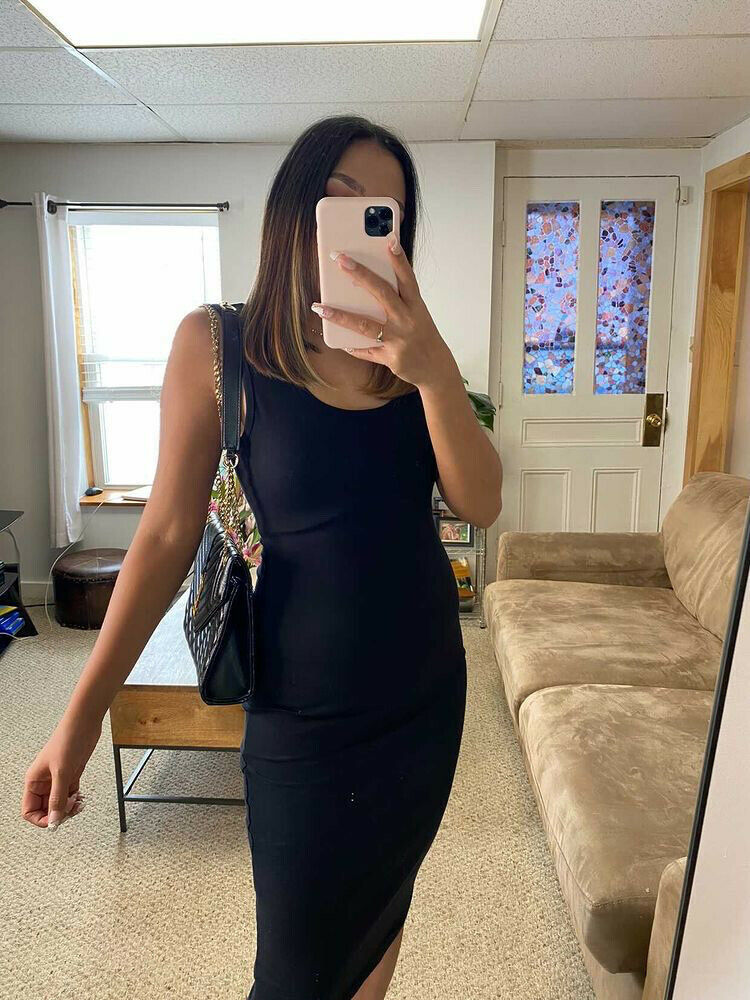 Primary image for Little black dress bodycon club body hugging women tank dress