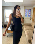 Little black dress bodycon club body hugging women tank dress - $21.11