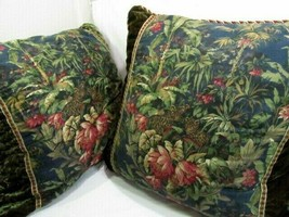 Raymond Waites Vintage Jungle Velvet Leopard 26-inch Square Pillows (Set... - $82.00