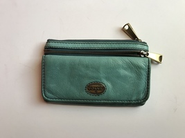 Fossil Explorer Teal Color Flap Clutch Wallet - $35.00
