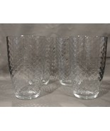 Honeycomb Glass Tumblers 5.5 Inches Tall Set of 4 from Turkey - $35.00