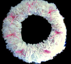 Vintage Fabric Custom Made Pink Wreath 10 inch - $40.00