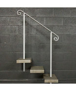 5 Foot Steel Stair Railing Handrail | In-Ground Posts | Iron Grab Rail Rail - $130.00