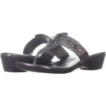 Marc Fisher Amina2 Thong Flip Flop Sandals 735, Pewter, 9 US - $19.19