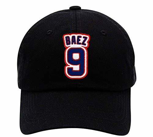 Javier Baez Hat - Chicago Baseball #9 Javy Black Adjustable Strapback Dad Cap