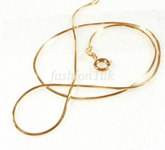 Small Short 35cm Shiny Snake Rope Cube Chain Necklace 18K Gold Plated - $9.40