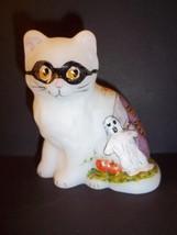 Mosser Glass Halloween Persian Cat Kitten Hp Mask-Ghost-Haunted House-Pumpkins - $36.38