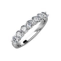14K White Gold Forever One Moissanite 7 Stone Bridal Wedding Anniversary... - $460.84+