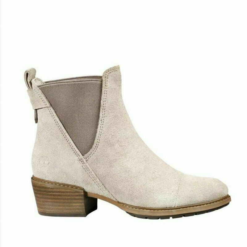 Timberland Women's Sutherlin Bay Light Taupe Suede Slouch Chelsea Boots A1Y86 - $73.99