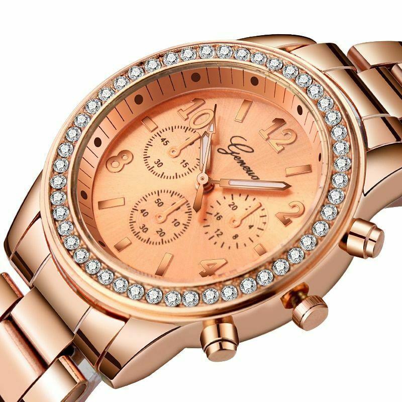 Geneva Luxury Rhinestone Watch Women Classic Fashion Ladies Metal Wristwatch - $9.84 - $12.81