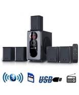beFree Sound 5.1 Channel Surround Sound Bluetooth Speaker System in Black - $83.16