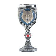 #10017864 *TIMBER WOLF MOTIF DECORATIVE GOBLET* - $17.86
