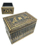 Ebros Ancient Gods Of Egypt Scarab With Twin Falcon Secret Jewelry Box E... - $29.69
