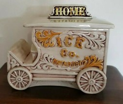 Vintage Treasure Craft Home Ice Co Truck Kitchen Cookie Jar Made in USA - $79.20